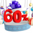 Royalty-Free Stock Photo: Christmas Gift sixty percent discount