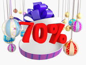 Desconto de 70% de presente de natal — Foto Stock
