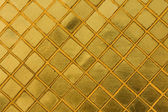 Gold tile mosaic background — Stock Photo