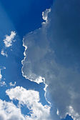Halo effect on clouds edge — Stock Photo