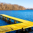 Stock Photo: Old wooden pier