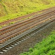 Rail lines in hollow — Stock Photo #8525194