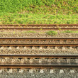Stock Photo: Parallel rail lines