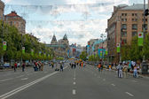 Khreshchatyk. The central street of Kyiv, capital of Ukraine — Stock Photo