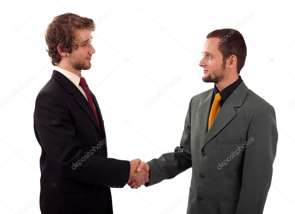 Handshake isolated on white background — Stock Photo #8516468