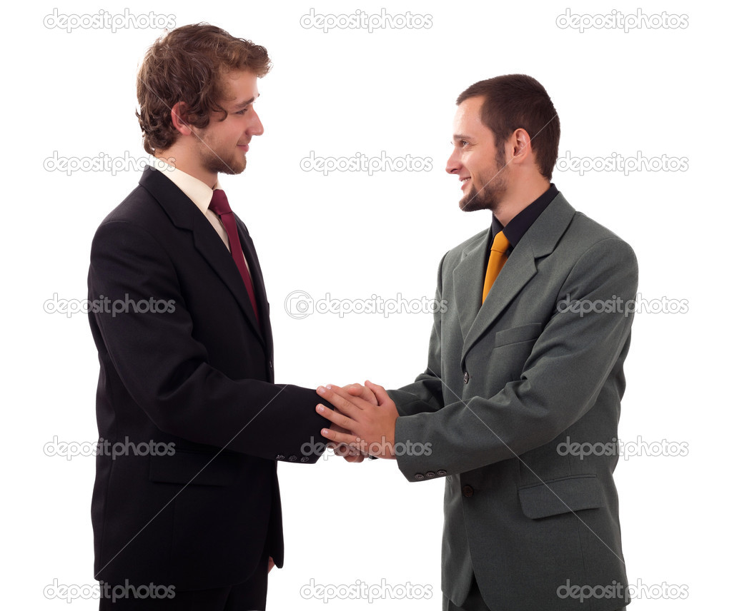 Handshake isolated on white background — Stock Photo #8516469