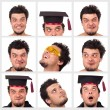 Stock Photo: Collection of a funny guy