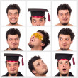 Collection of a funny guy — Stock Photo