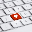 Keyboard with heart sign - ストック写真