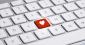 Keyboard with heart sign — Stock Photo