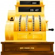 Stock Vector: Antique cash register