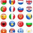 Europe flags buttons, part one — Stock Vector #8419952