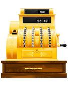 Antique cash register — Stock Vector