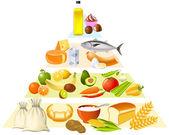 Voedselpiramide — Stockvector