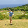 Caribbean golf - Stock Photo