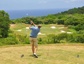 Caribbean golf — Stock Photo