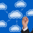 Stock Photo: Blank cloud computing