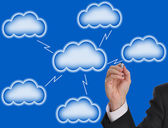 Blank cloud computing — Stock Photo