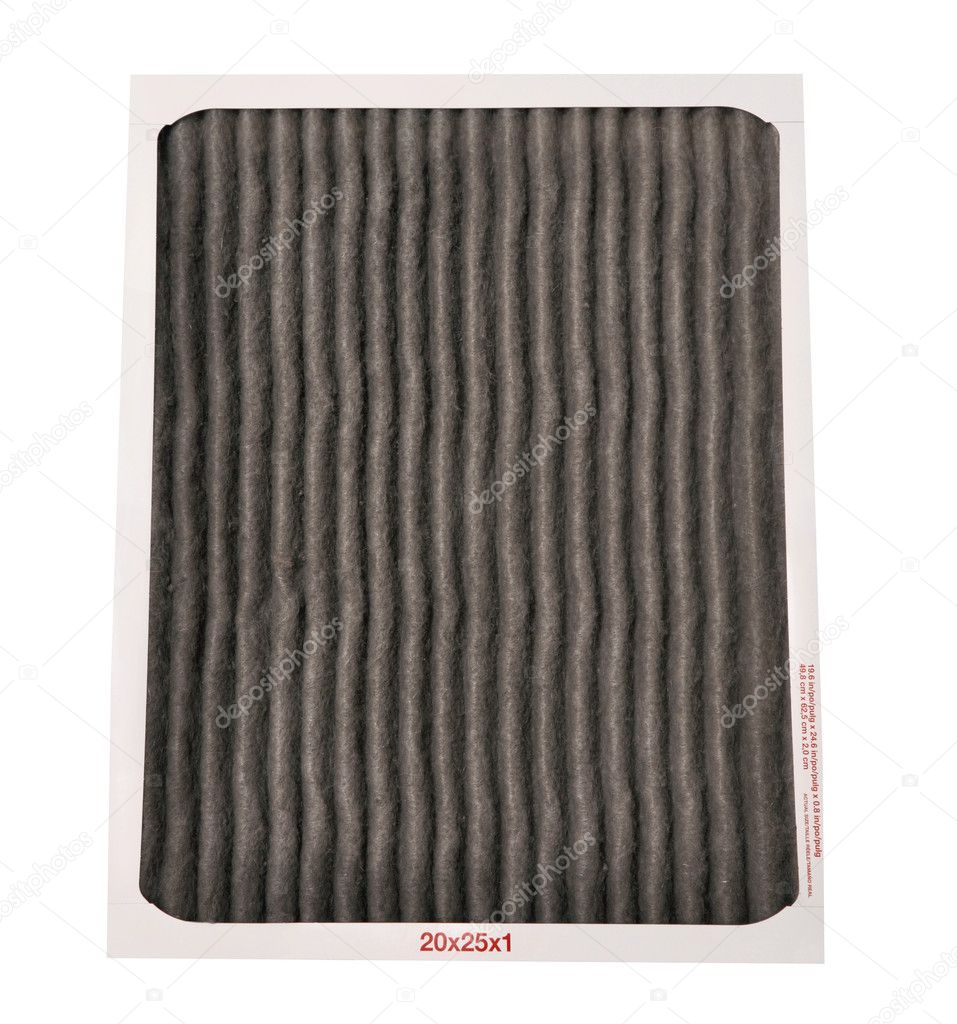 Dirty furnace filter on a white background — Stock Photo #9117172