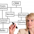 CRM diagram — Stock Photo