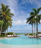 Luxury resort pool — Stock Photo