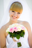 Portrait of a young bride — Stock Photo