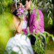 Bride and groom in the park — Stock Photo #8871546