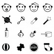 Horoscope signs icons — Stock Vector