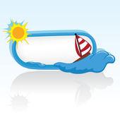 Fundo de verão e o mar — Vetor de Stock
