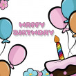 Happy birthday background — Image vectorielle