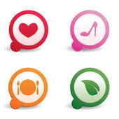 Cute web icons — Stock Vector