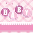 Baby background arrival — Stock Vector #8103304