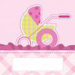 Royalty-Free Stock Vector Image: Baby arrival card