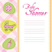 Baby arrival card — Stockvector