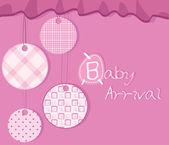 Bebis ankomst kort — Stockvektor
