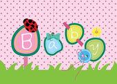 Baby arrival wallpaper — Stock Vector