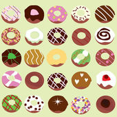 Doughnut background — Stock Vector