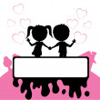 Royalty-Free Stock Vector Image: Boy and girl in love