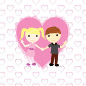 Boy and girl in love — Stock Vector