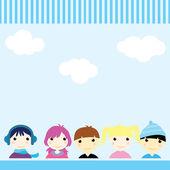 Children card — Stock Vector