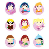 Children icons — Stock Vector