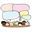Cartoon kids speech bubble - Stock Vector
