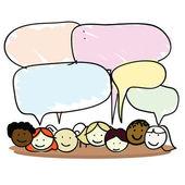 Cartoon kids speech bubble — Stock Vector