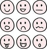 Cartoon doodle faces — Stock Vector