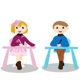 Attività bambini cartoon - educazione — Vettoriale Stock