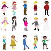 Cartoon children — Stock Vector