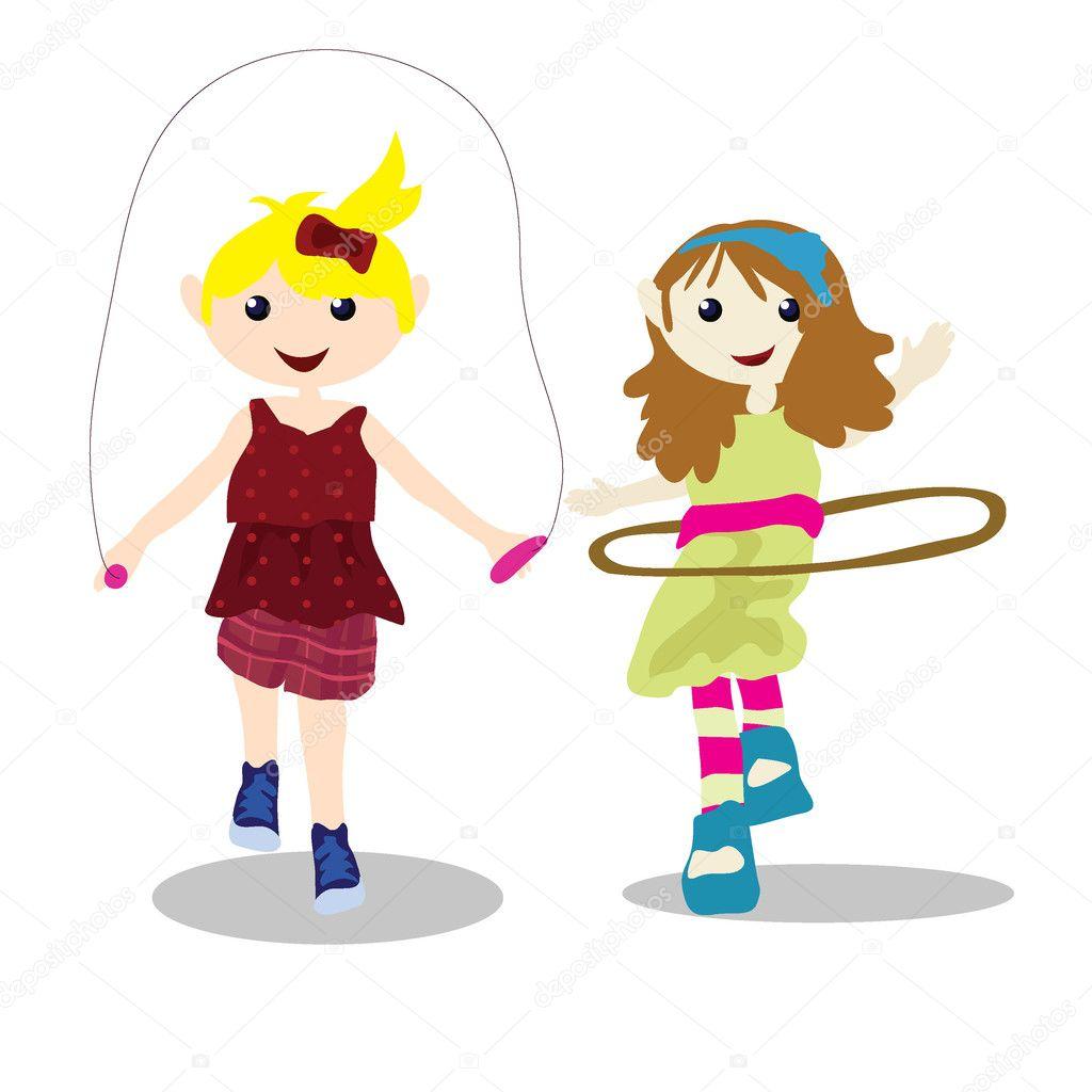 Cartoon children activity stock illustration