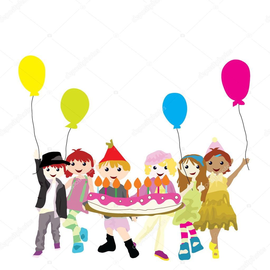 Cartoon party children stock illustration