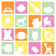 Baby icons set — Stock Vector #9916204