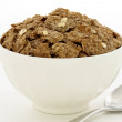 Постер, плакат: Wheat bran flakes cereal breakfast with rolled oats